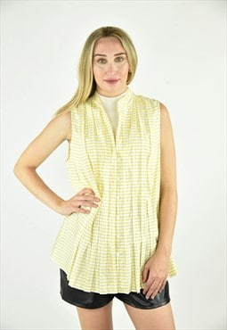 Vintage 90's Jones New York Yellow Sleeveless Blouse Size 1X