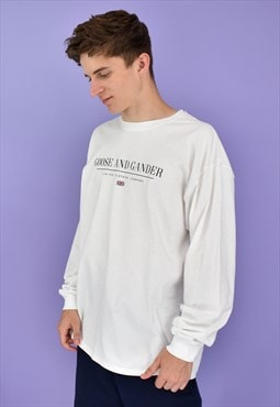 G&G Unisex White LTD L/S Cuffed Tee