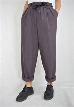 Vintage 80's purple straight trousers