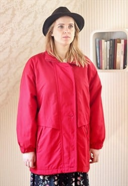 Bright red soft padded jacket