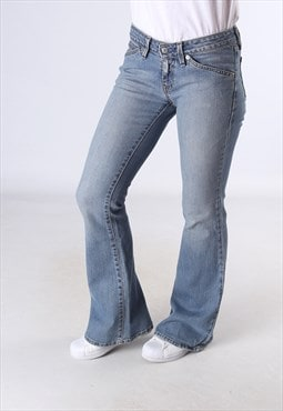 LEVIS 551 Flare Denim Jeans Flared Leg UK 10 (JC5F)