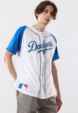 90's Vintage Mens DODGERS Majestic Top Jersey Shirt