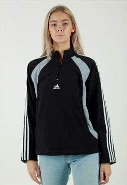 Vintage 00s Adidas small logo 1/4 zip fleece