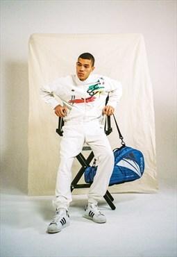 Adidas Full Tracksuit White Large RARE