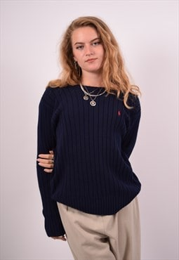 Vintage Polo Ralph Lauren Jumper Sweater Blue