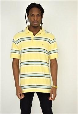 Vintage Striped Tommy Hilfiger Polo Shirt