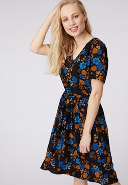 Princess Highway Navy Floral Print Dress