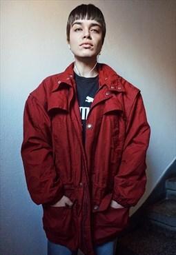 90s Vintage Burgundy Red Jacket