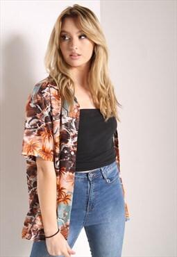 Vintage Hawaiian Jazzy Patterned Shirt Multi