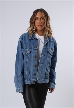 WRANGLER Denim Jacket Oversized Fitted UK 18 (G6BB)