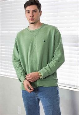 Vintage Polo Ralph Lauren Sweatshirt Jumper Logo 90s M 15.1