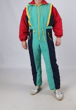 "Vintage Full Ski Suit Snow Sports UK M 40 - 42"" (J9F)"