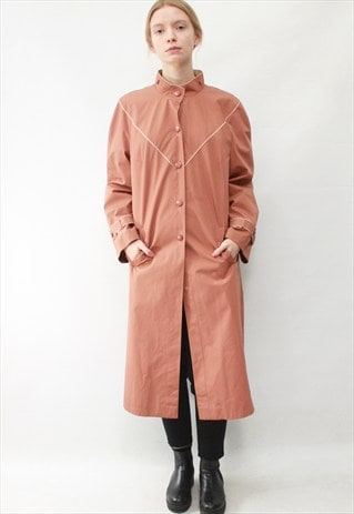 VINTAGE 80' BEAUTIFUL CLASSIC CUTE PASTEL PINK LIGHT COAT