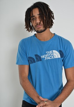 Vintage The North Face Crew Neck T-Shirt Blue