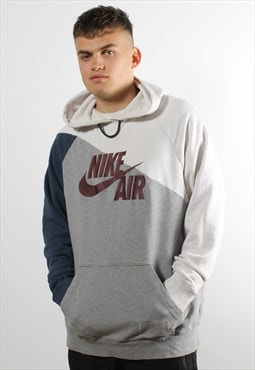 Vintage Nike Air Hoodie in Grey w/ Spell Out Logo