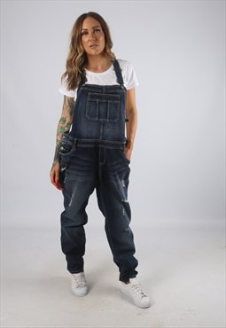 Vintage Denim Dungarees Tapered Leg UK 18 XXL (H2E)