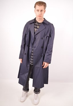 Vintage Trench Coat Navy Blue