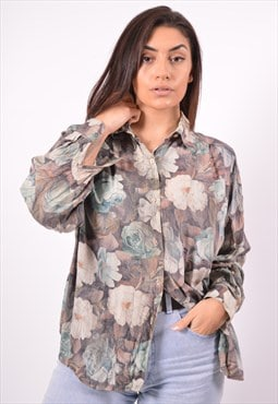 Vintage Benetton Shirt Floral Multi