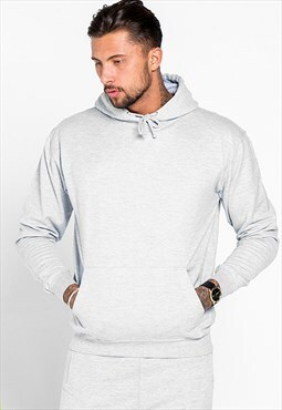 Essential Lounge Blank Pullover Hoody - Ash Grey
