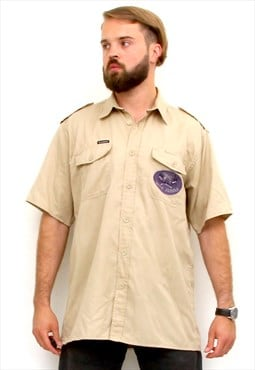 Kansas Short Sleeve Men Shirt American Zookeeper Scout Shirt