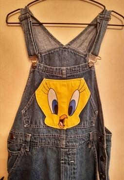 Vintage Looney Tunes Tweety Pie Short Dungarees