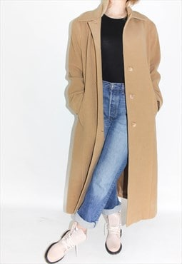 Vintage 90's Wool Oversized Camel Coat