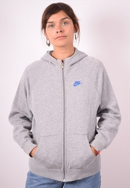 Nike Womens Vintage Hoodie Jacket XL Grey 90s