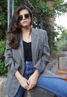 Vintage 80s Gianfranco Ferre Sartorial Check Jacket