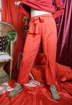 Vintage 90's red high waist trousers