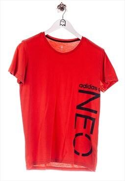 Vintage adidas  T-Shirt Logo Print Rot