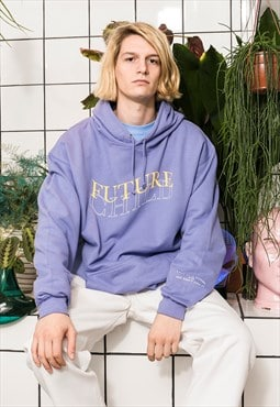 Graphic Hoodie in purple