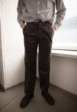 Vintage 80's Grey Corduroy Trousers
