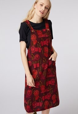 Princess Highway Red Lion Pinafore