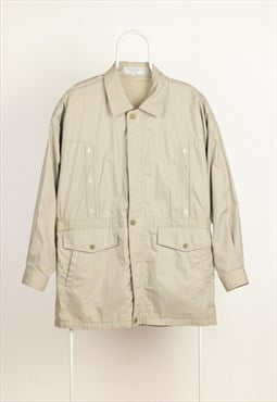 Vintage Yves Saint Laurent Longline Light Jacket Olive