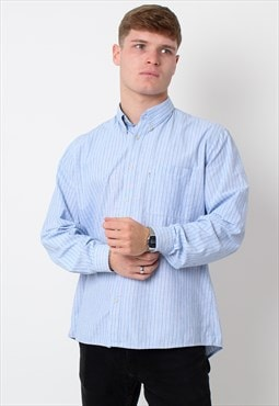 Vintage Levis Shirt, Fitted Blue