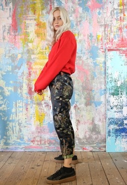 Dragon Trousers & Red Crop Sweat Co-ordinates