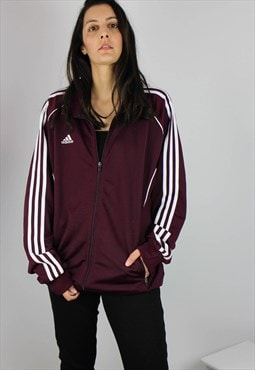 Vintage Adidas Sports Shell Jacket with Logo & Three Stripe