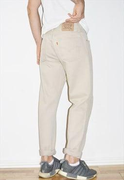 90's LEVI'S Vintage Beige  Jeans