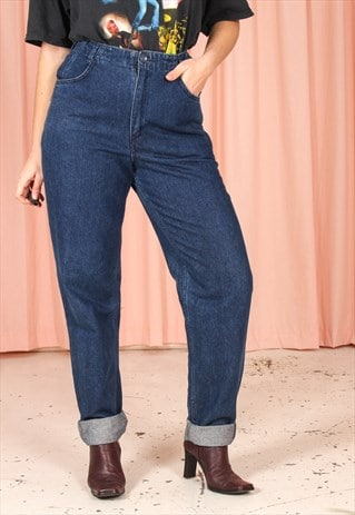 VINTAGE 90S STRAIGHT LEG JEANS IN DARK WASH