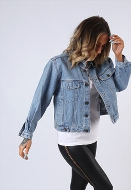 Denim Jacket TOP FIVE Oversized Fitted Vintage UK 14 (EDAW)