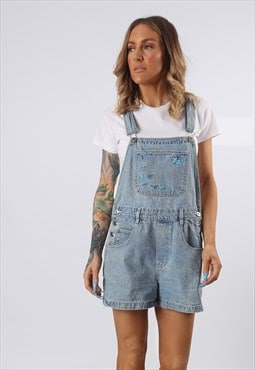Denim Dungaree Shorts RUE 21 Vintage UK 12 (J5DE)