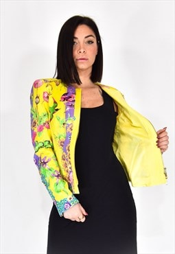 Versace multicolored vintage jacket