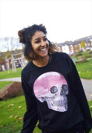 ATOMIC CLOUD SKULL BLACK SWEATER