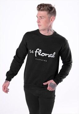 Large Graphic Jumper Sweater - Black