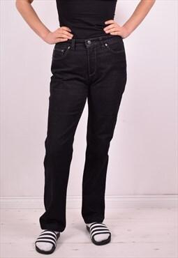 Trussardi Womens Vintage Jeans W29 L30 Black 90s