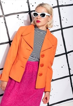 Orange jacket - 70s vintage blazer