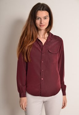 Vintage 90s Iridescent Red Espresso Shirt