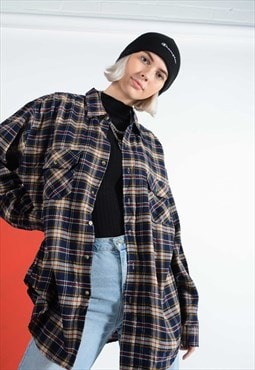 Vintage checked grunge shirt