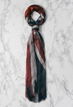 Mens Union Jack Vintage Style long Detail Scarf