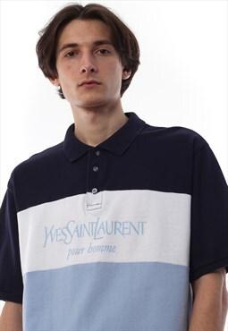 Vintage YVES SAINT LAURENT Polo Shirt Short Sleeve 90s